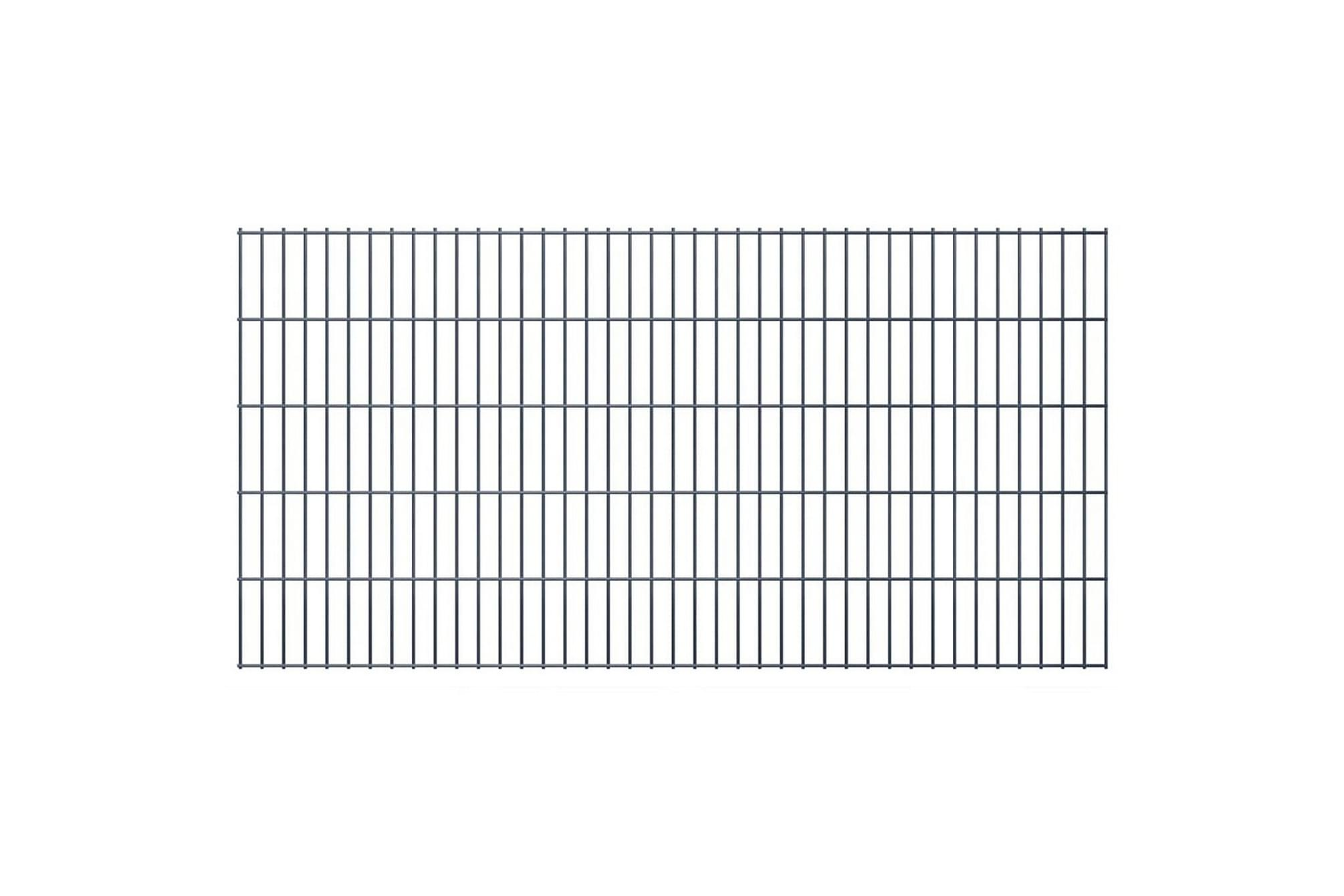 2D Stängselpaneler 2,008x1,03 m grå, Staket & grindar