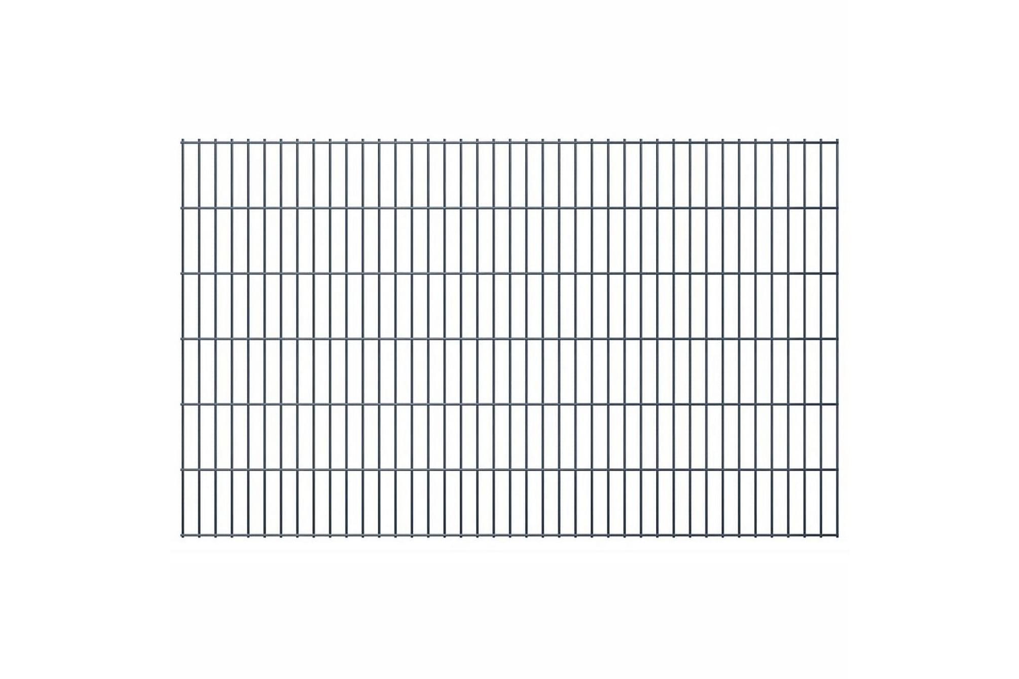 2D Stängselpaneler 2,008x1,23 m grå, Staket & grindar