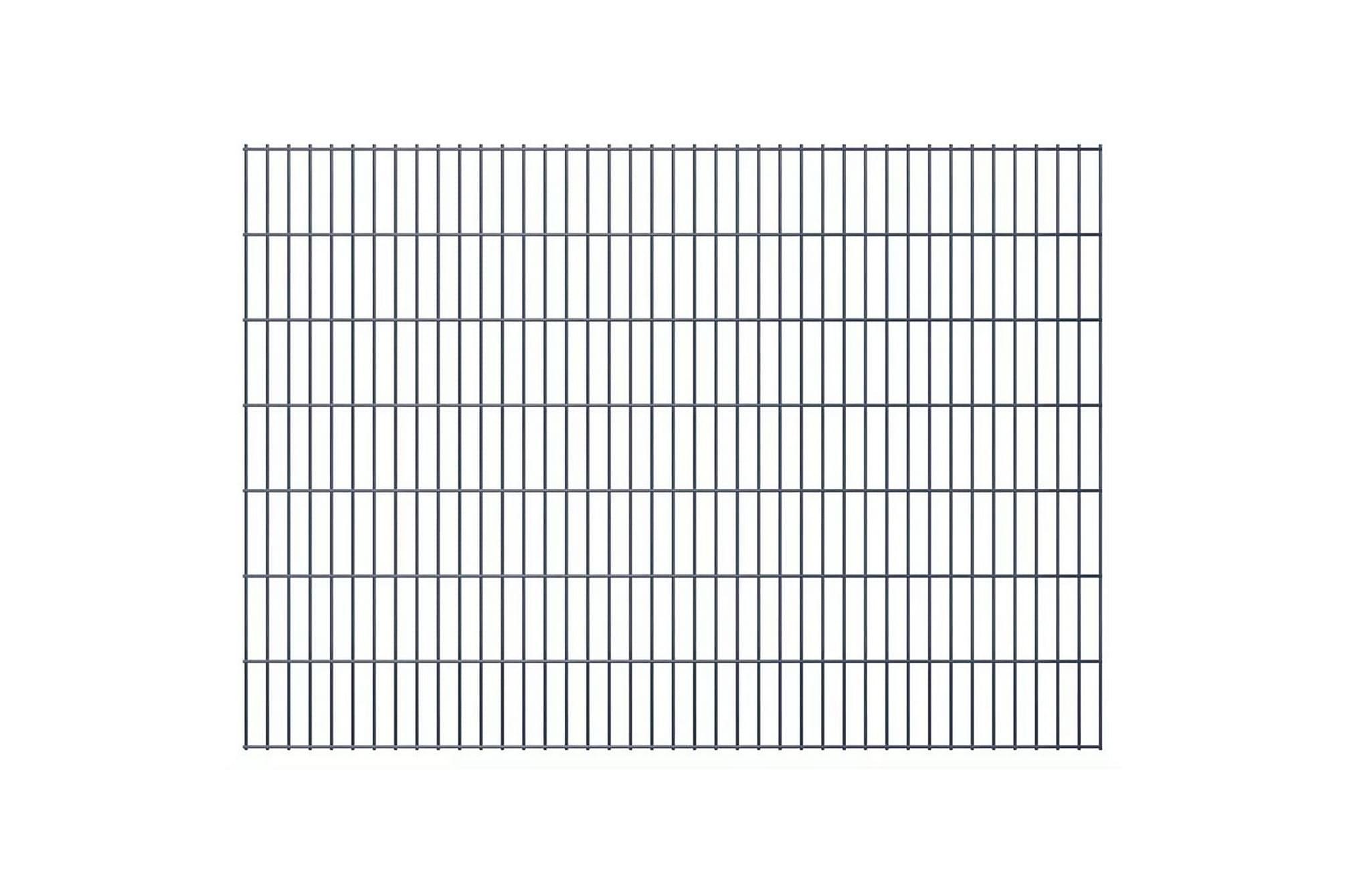 2D Stängselpaneler 2,008x1,43 m grå, Staket & grindar