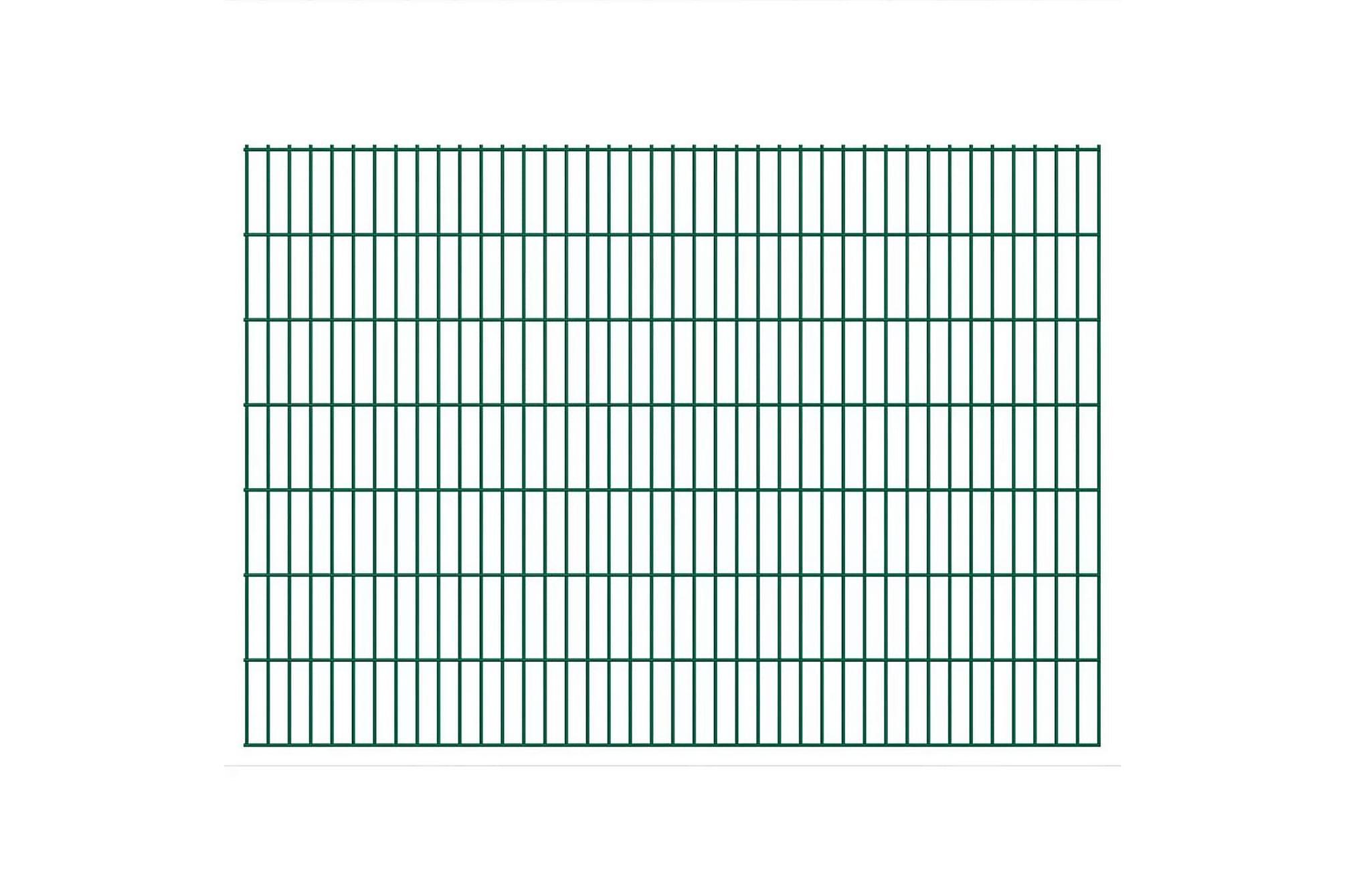 2D Stängselpaneler 2,008x1,43 m grön, Staket & grindar