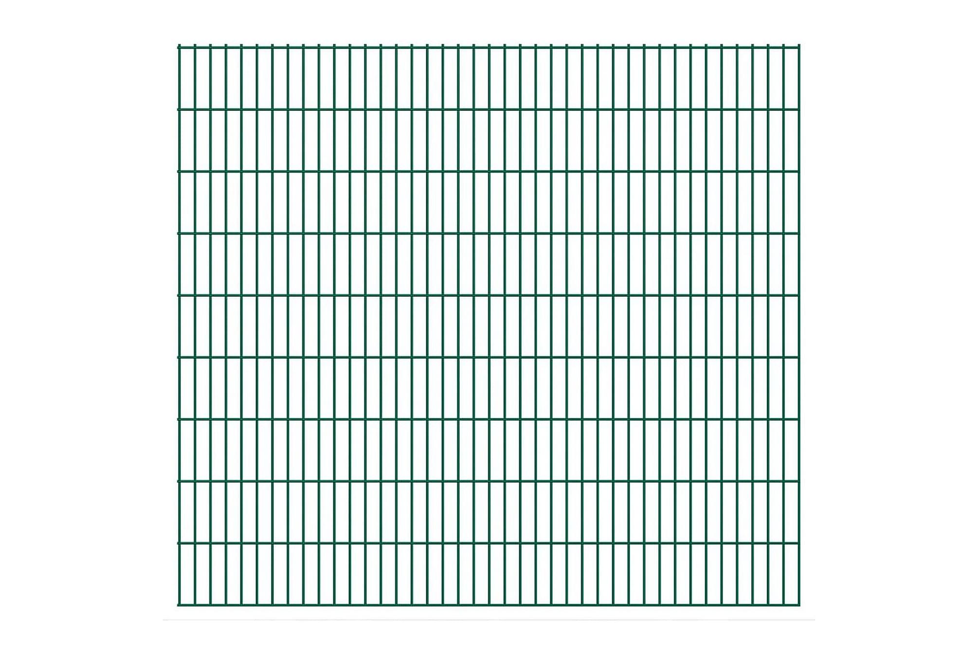 2D Stängselpaneler 2,008x1,83 m grön, Staket & grindar