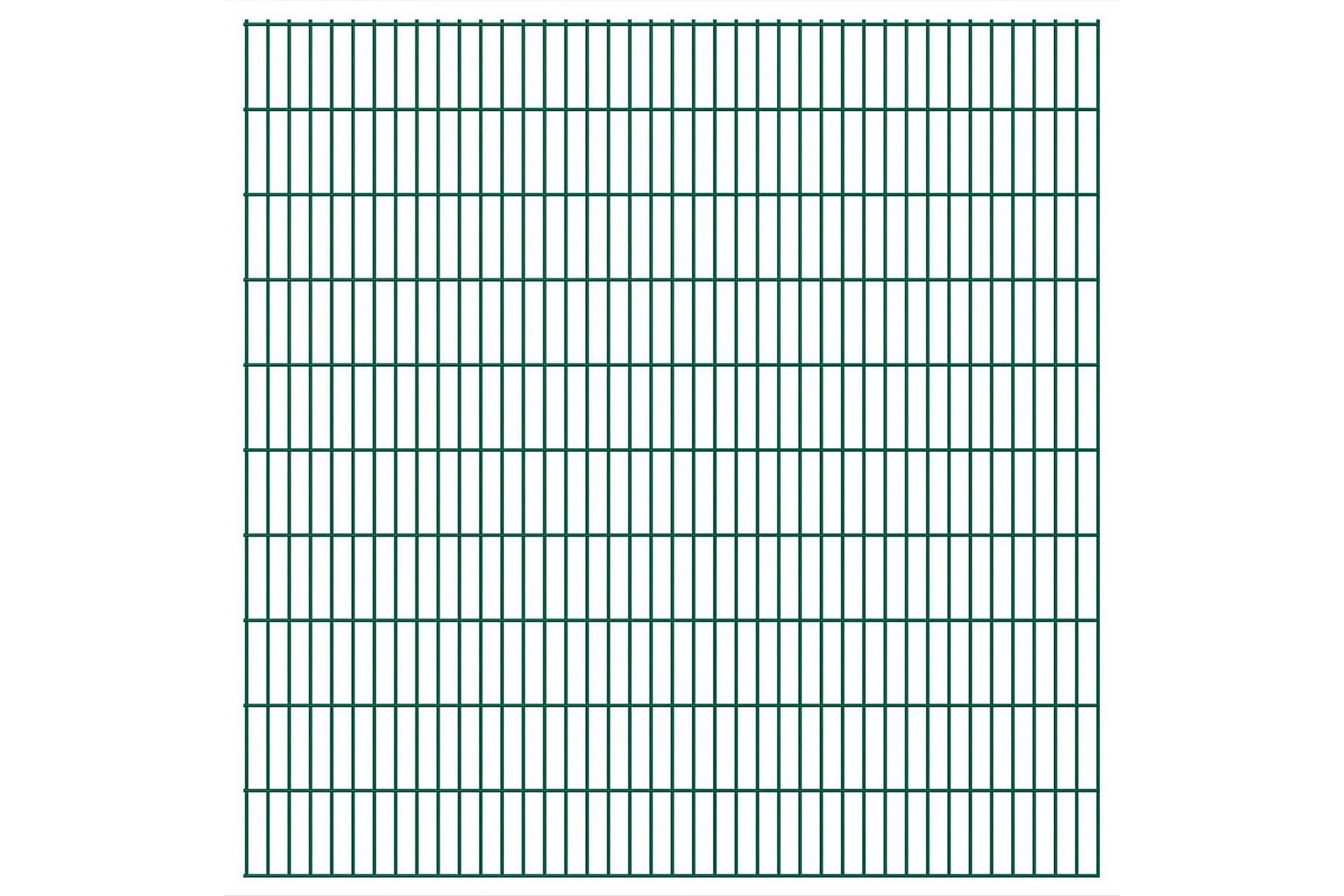 2D Stängselpaneler 2,008x2,03 m grön, Staket & grindar