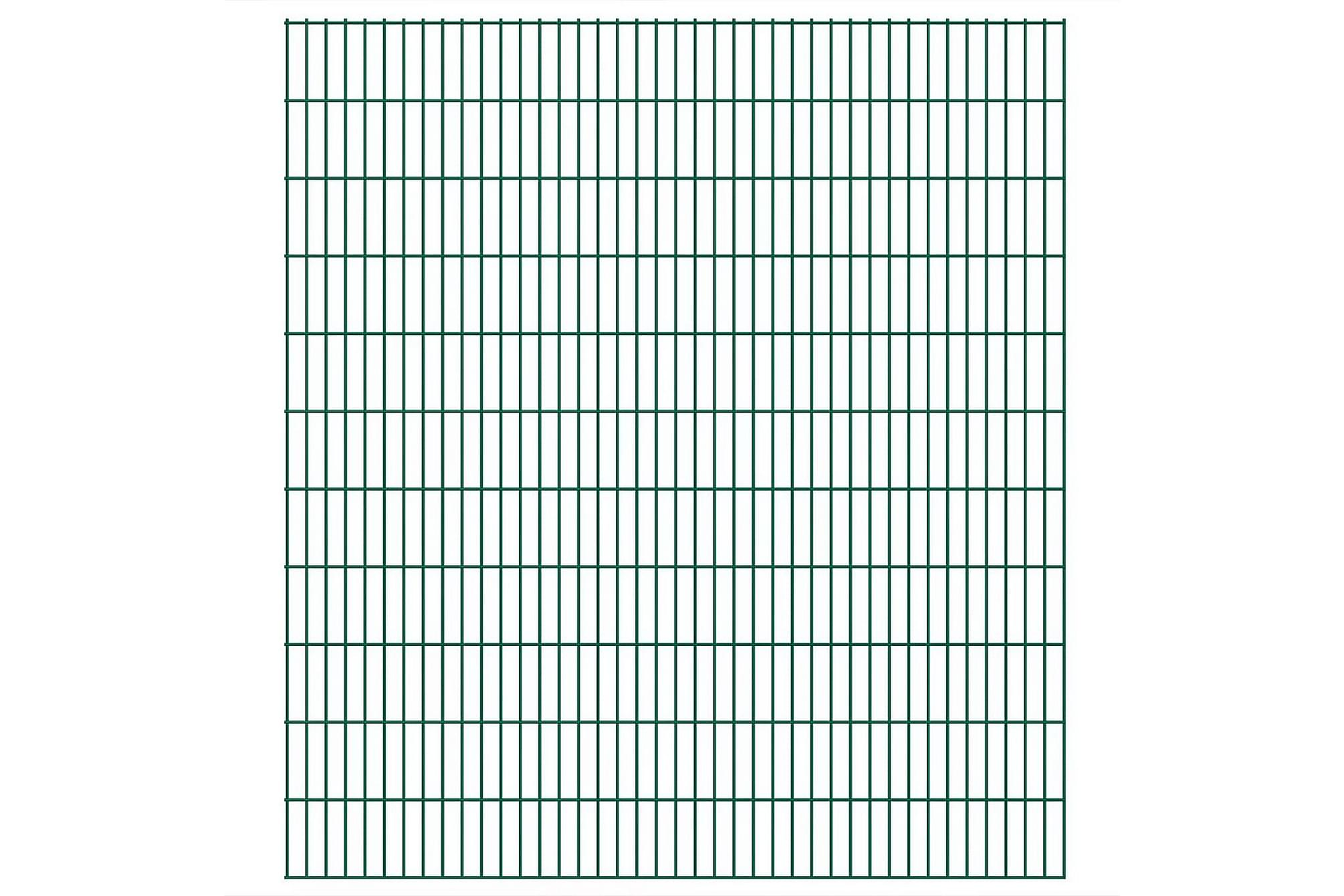 2D Stängselpaneler 2,008x2,23 m grön, Staket & grindar