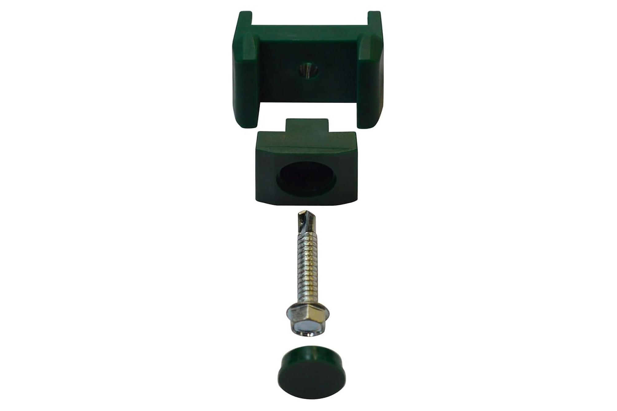 2D Stängselpaneler med stolpar 2008x2230 mm 12 m grön, Staket & grindar