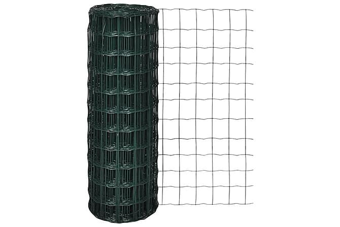 Eurofence stål 10 x 1,0 m grön - Grön - Utemöbler - Tillbehör - Staket & grindar