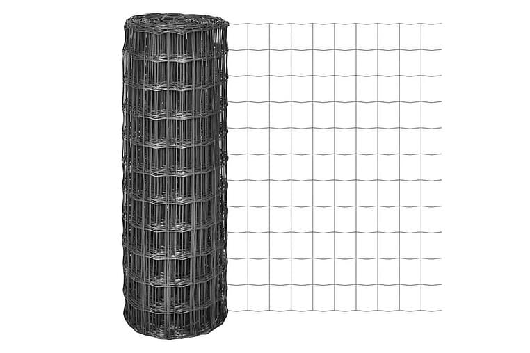 Eurofence stål 25x1,7 m grå - Grå - Utemöbler - Tillbehör - Staket & grindar