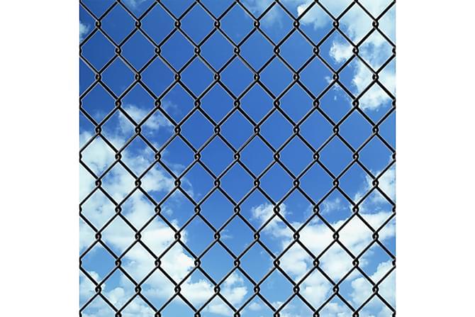 Stängselpaket med spikankare 1,25x25 m grå - Utemöbler - Trädgårdstillbehör - Staket & grindar