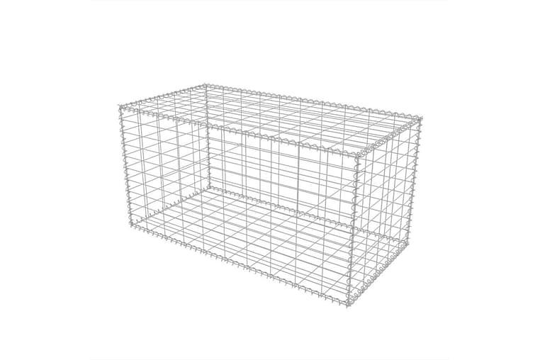 Gabionkorg galvaniserat stål 100x50x50 cm - Silver - Utemöbler - Tillbehör - Staket & grindar
