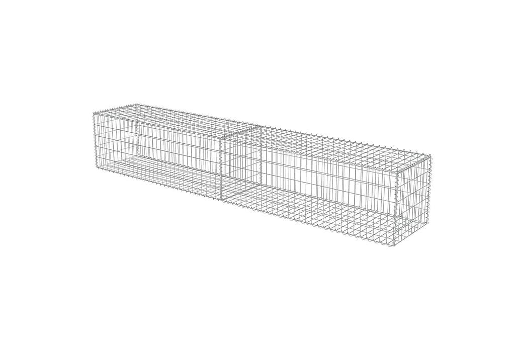 Gabionmur i galvaniserat stål 300x50x50 cm - Silver - Utemöbler - Tillbehör - Staket & grindar