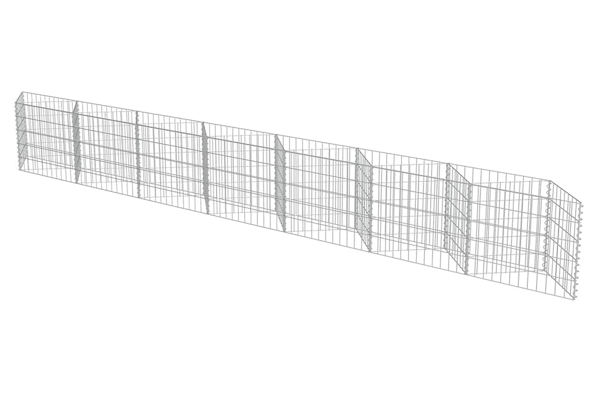 Gabionmur i galvaniserat stål 450x30x50 cm