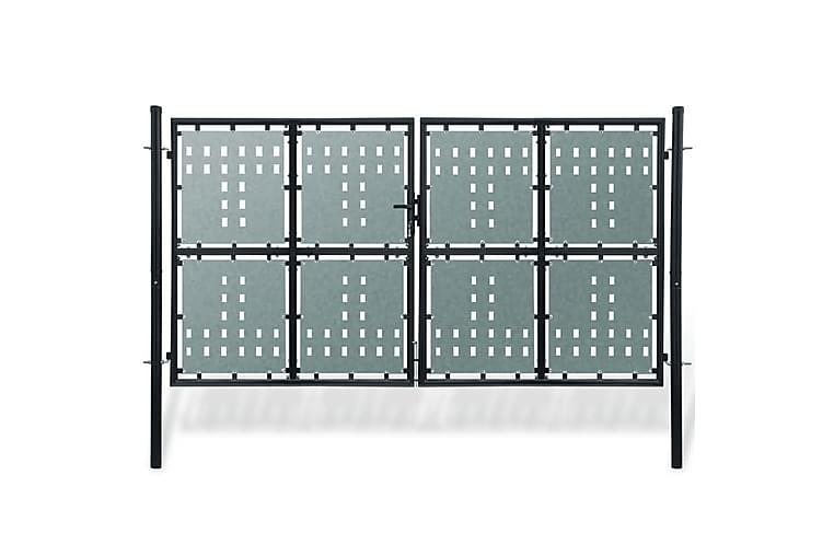 Grind dubbeldörr svart 300x225 cm - Svart - Utemöbler - Tillbehör - Staket & grindar