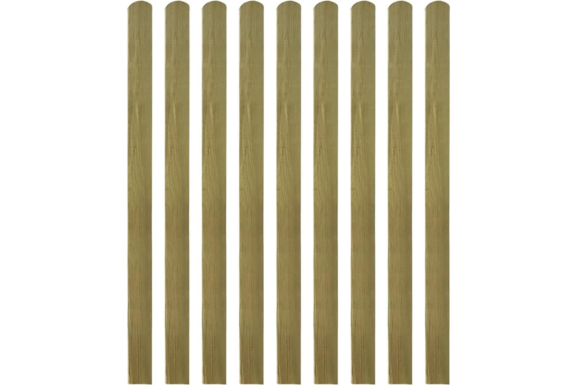 Impregnerad staketribba 30 st 140 cm FSC-trä