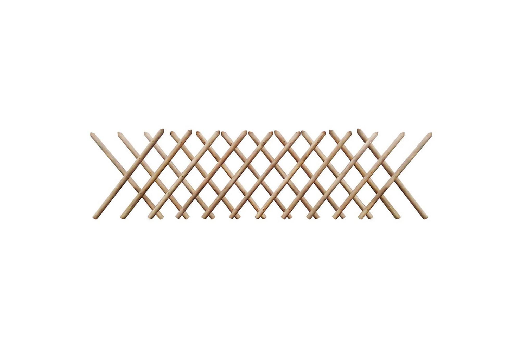 Jägarstaket 250×80 cm FSC impregnerat trä expanderbart