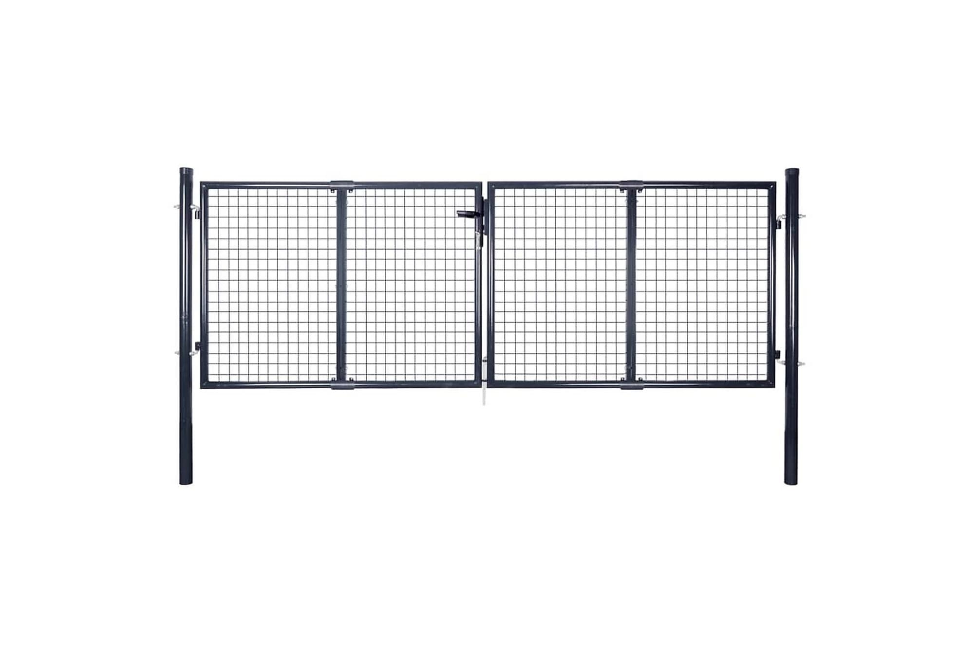 Nätgrind för trädgård galvaniserat stål 289×100 cm grå