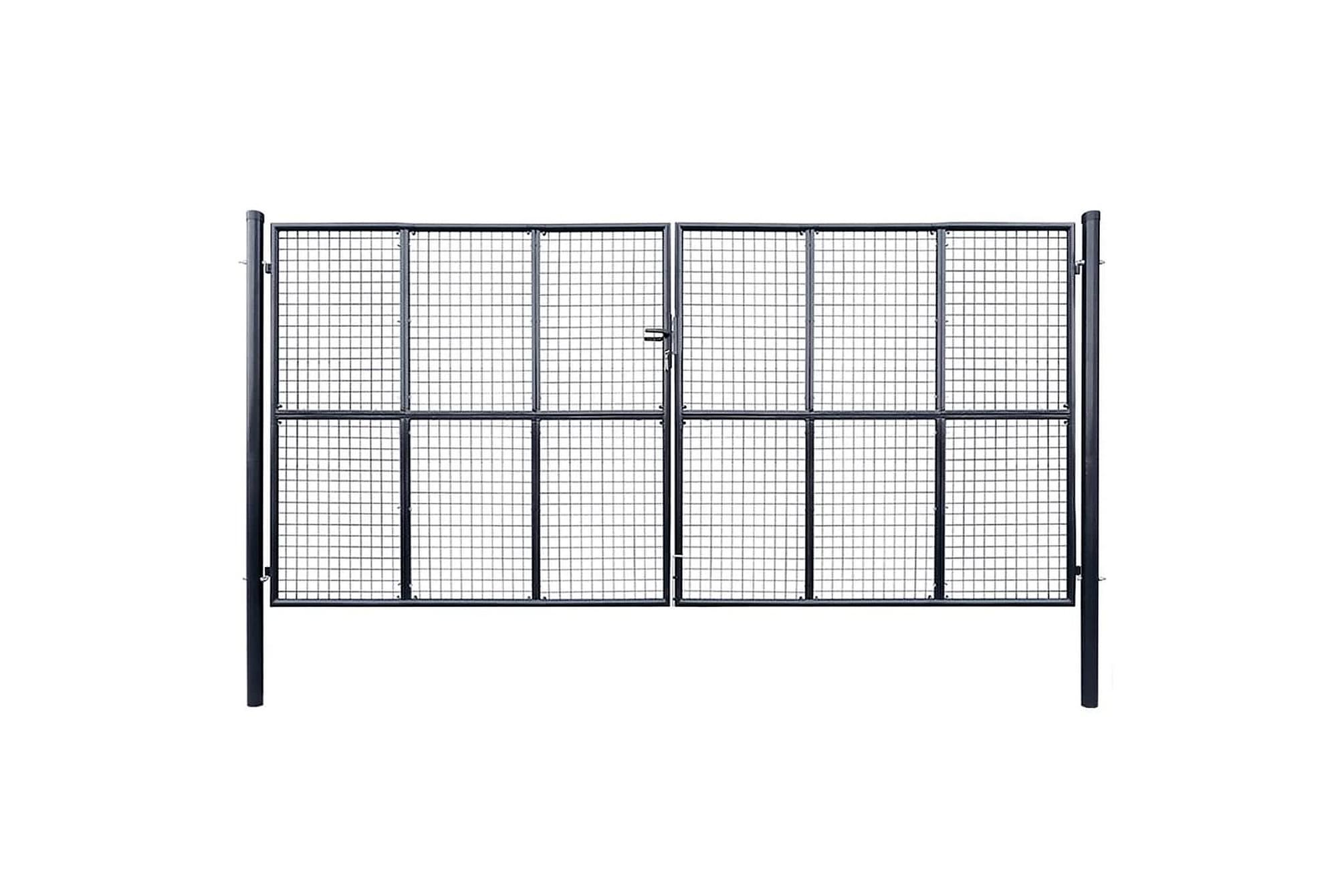 Nätgrind för trädgård galvaniserat stål 400×200 cm grå