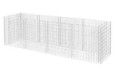 Planteringsgabion i stål 360x90x100 cm