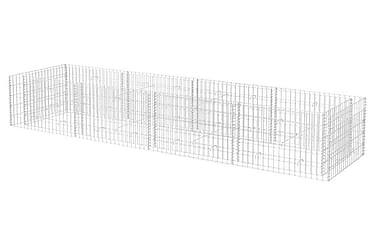 Planteringsgabion stål 360x90x50 cm
