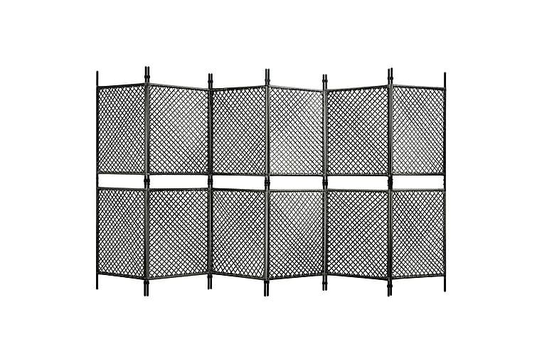 Staketpanel konstrotting 3,6x2 m antracit - Antracit - Utemöbler - Tillbehör - Staket & grindar