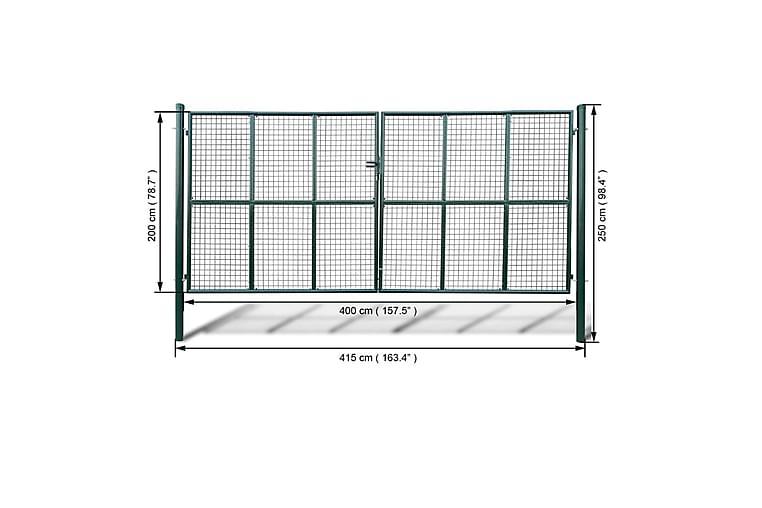 Trädgård nätgrind 415x250 / 400x200 cm - Grön - Utemöbler - Tillbehör - Staket & grindar