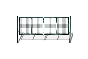 TRÄDGÅRDSGRIND 289x100 cm/306x150 cm stål grön