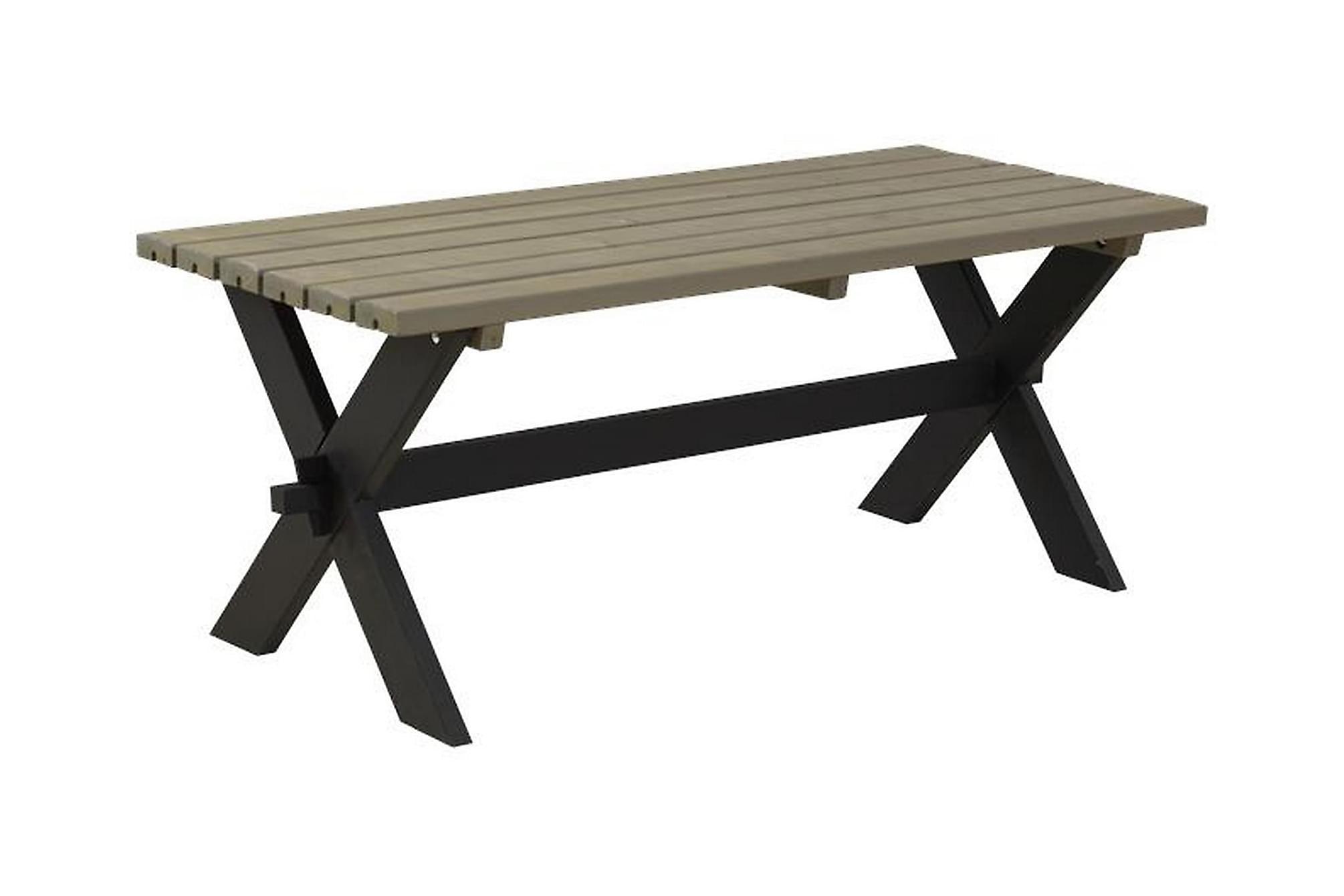 NOSTALGI Plankbord 177x76 Svart/Grå, Träbord
