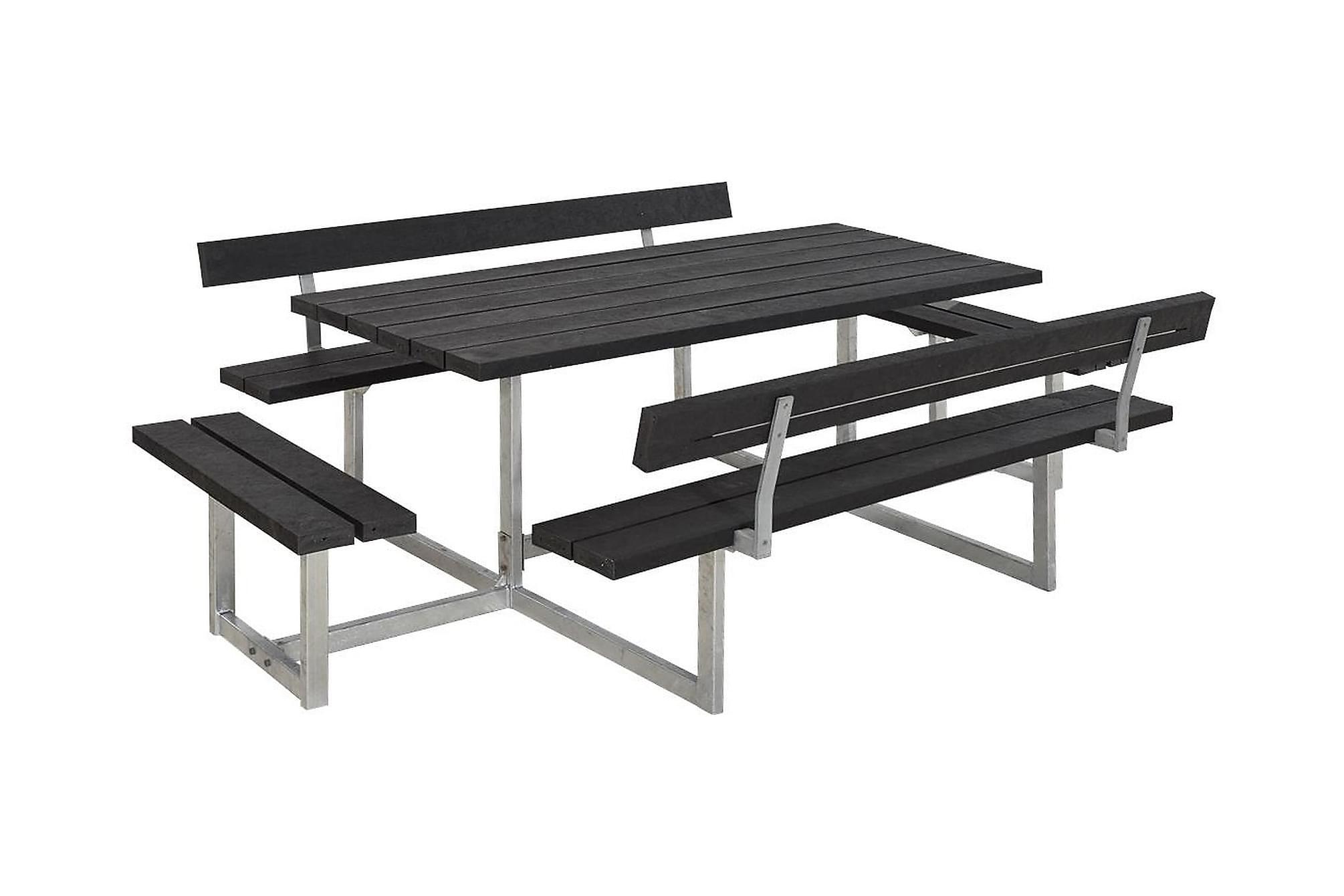 BASIC Bänkset Svart/Grå, Bänkbord
