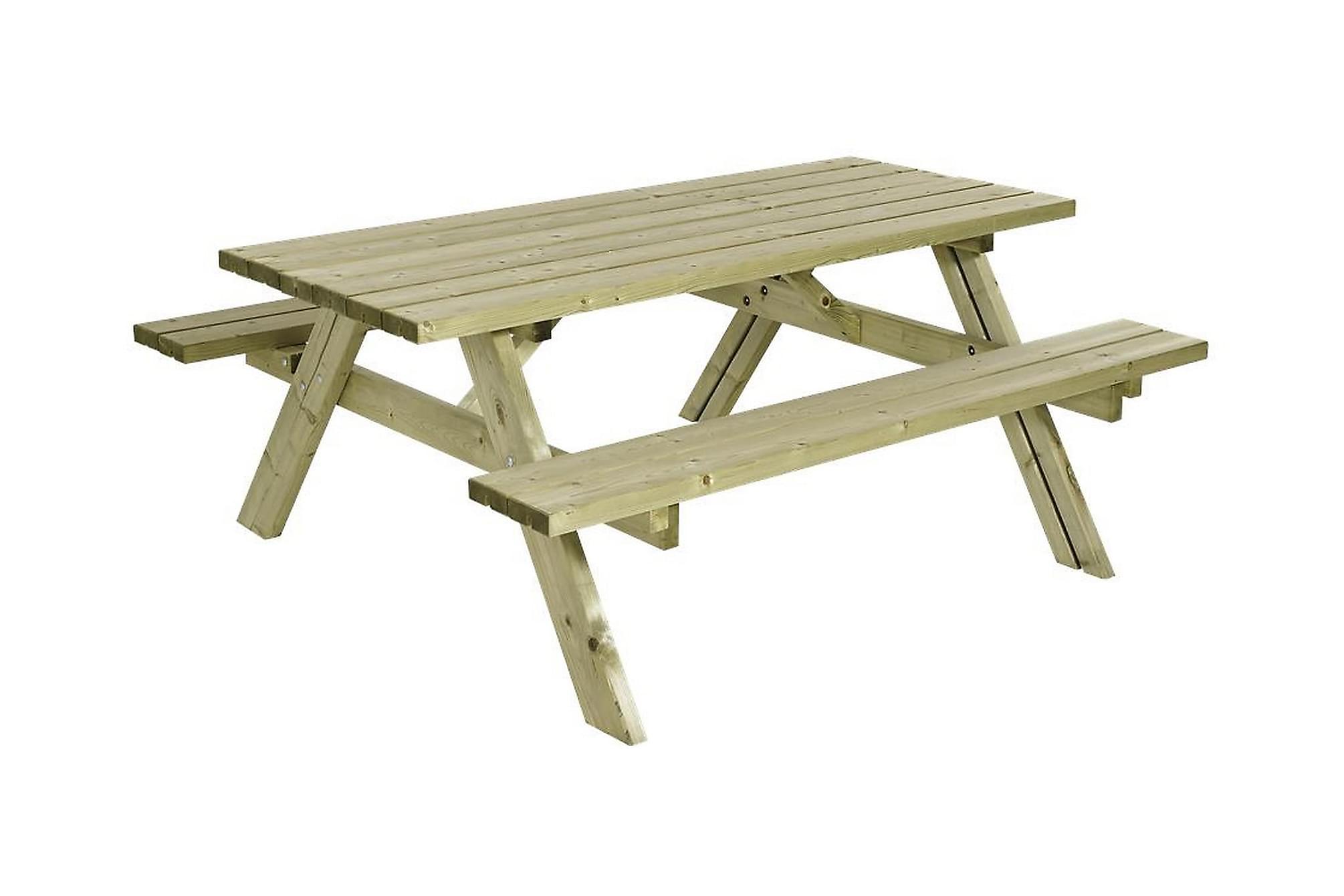 GUDRUN Picknickbord med Bänk Trä, Bänkbord