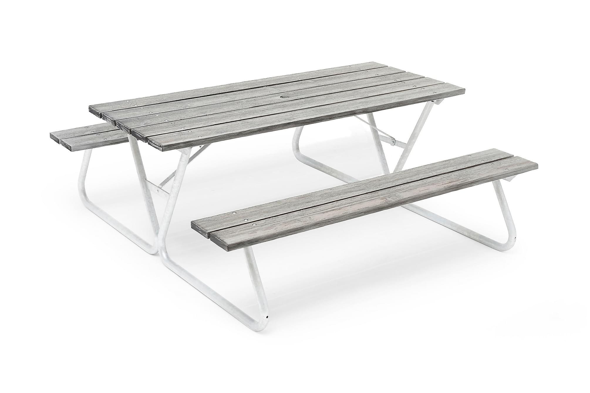 HILLERSTORP PICNIC Picknickbord Bastant Utan Rygg Whitewash, Bänkbord