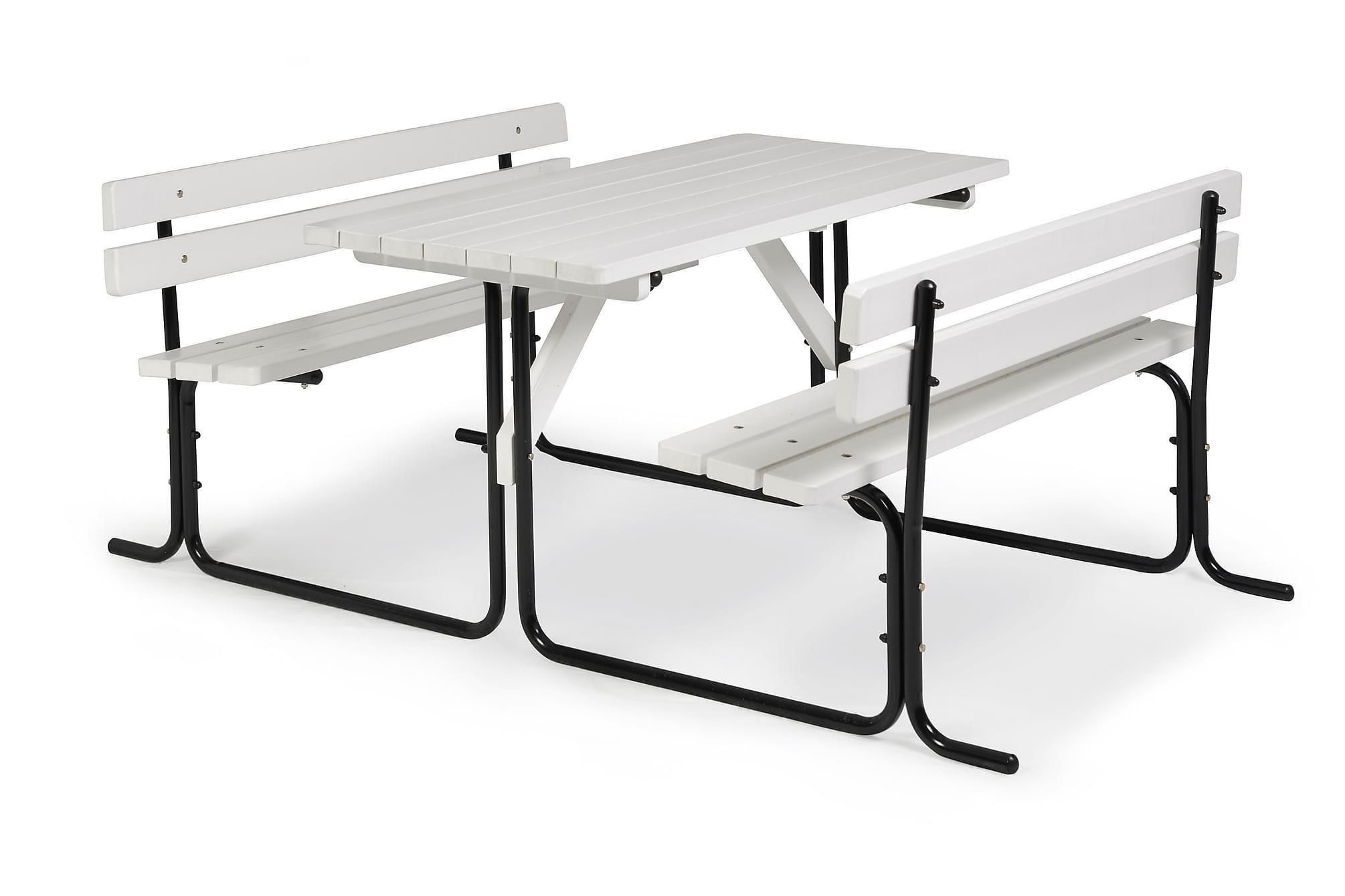 HILLERSTORP PICNIC Picknickbord Stål/Vit, Bänkbord