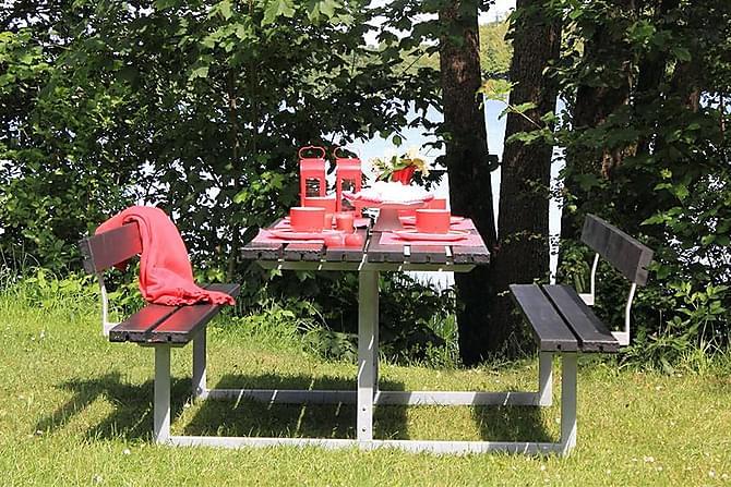 PARENTI Bord + Bänkset med 2 Ryggstöd - Utemöbler - Utebord - Bänkbord