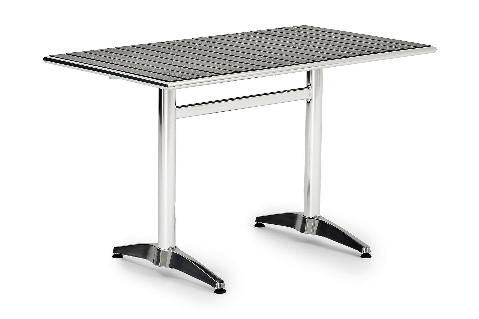 ALUNDA Bord 70x120 Aluminium, Cafebord