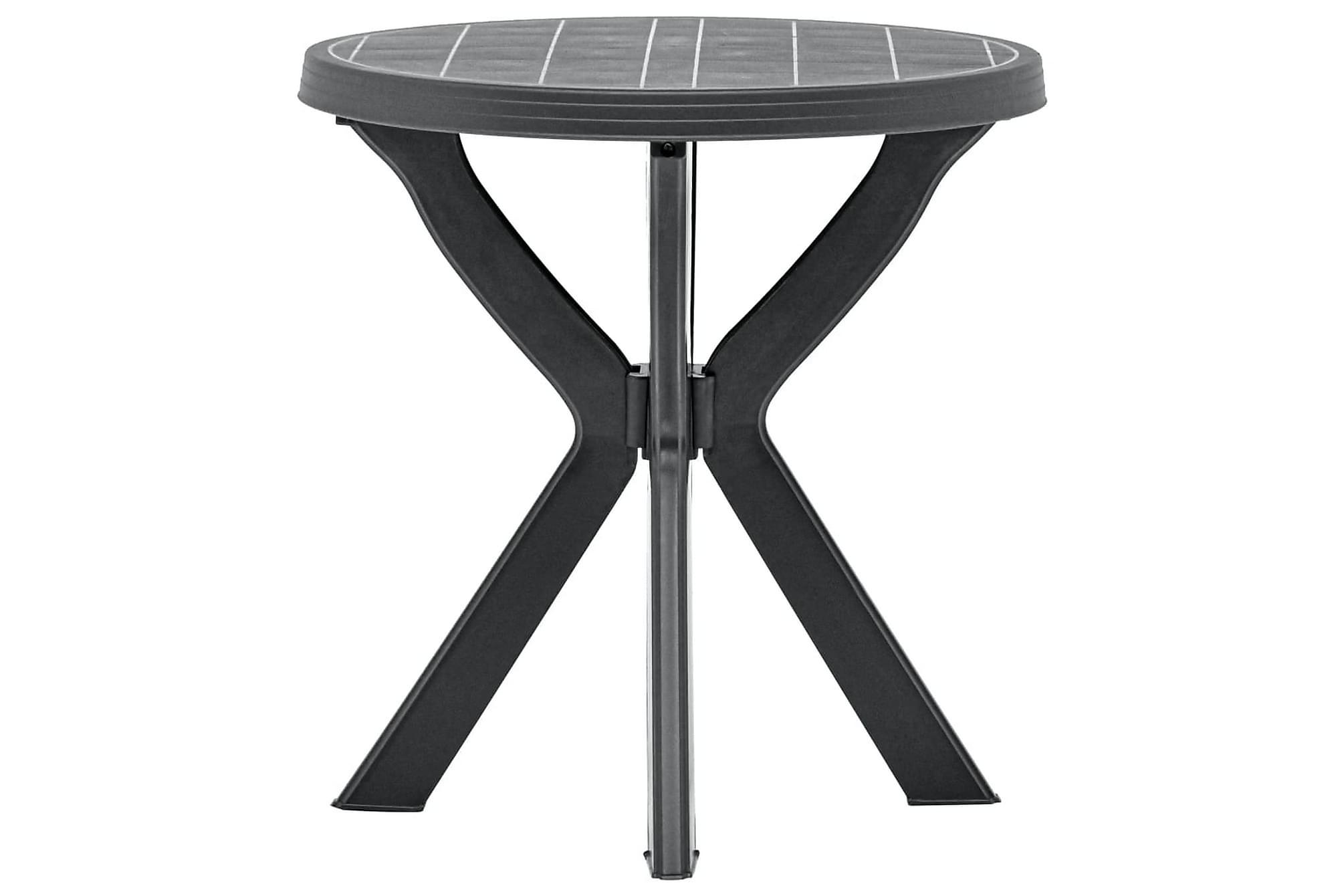 Cafébord antracit Ã?70 cm plast, Cafebord