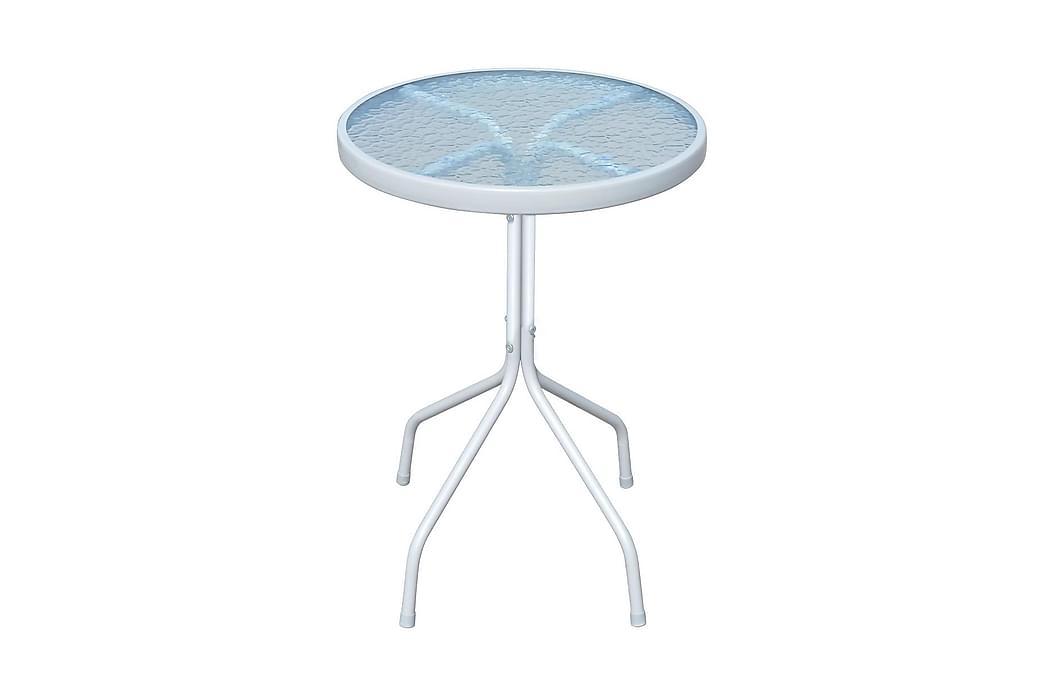 Cafébord grå 50x71 cm stål - Grå - Utemöbler - Utebord - Cafebord