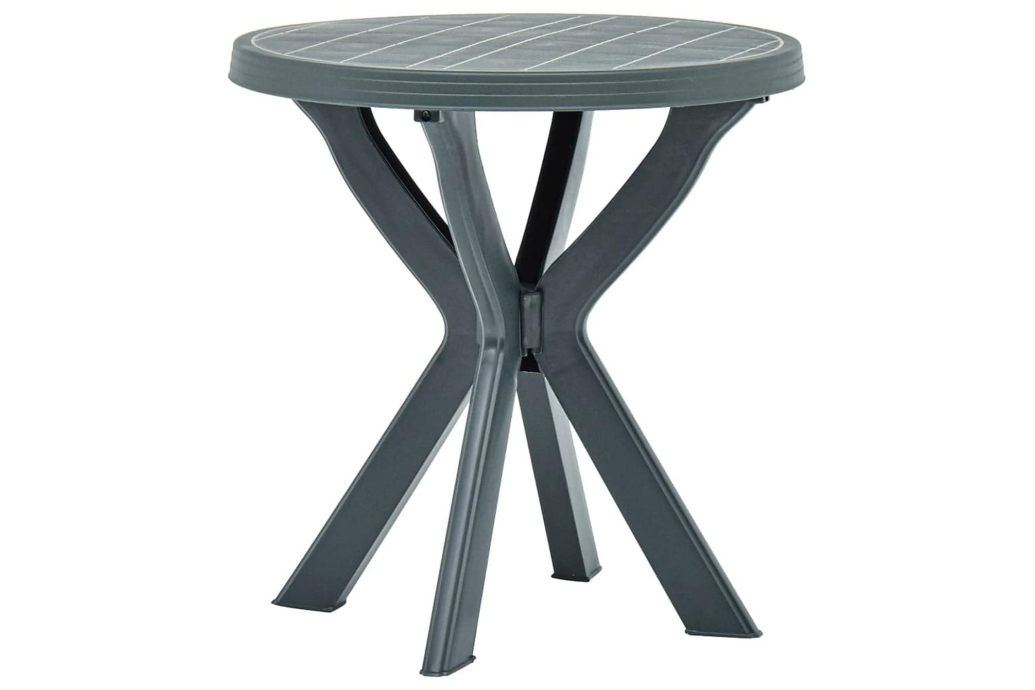 Cafébord grön Ã?70 cm plast, Cafebord