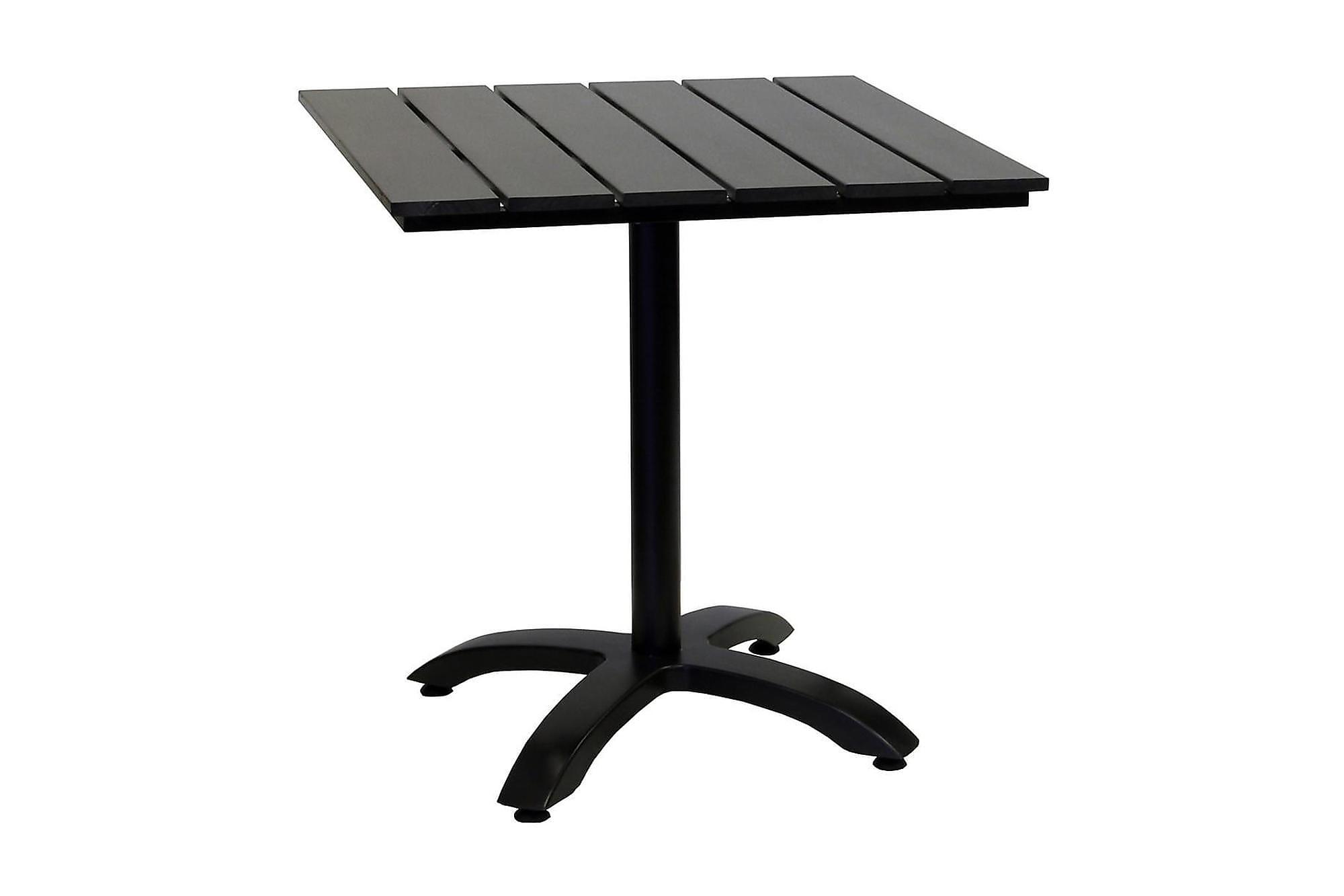 HILLERSTORP BRIGHTON Cafébord 70x70 Svart/Aluminium, Cafebord