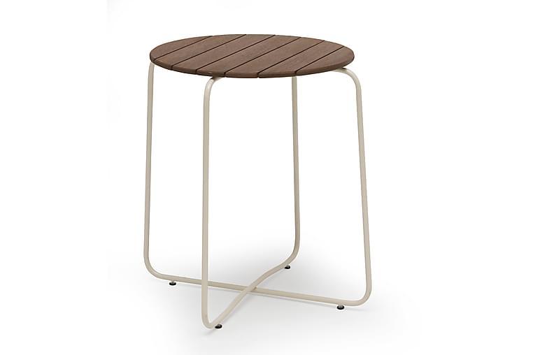 HILLERSTORP OAS Cafébord 67 Natur/Vit - Utemöbler - Utebord - Cafebord