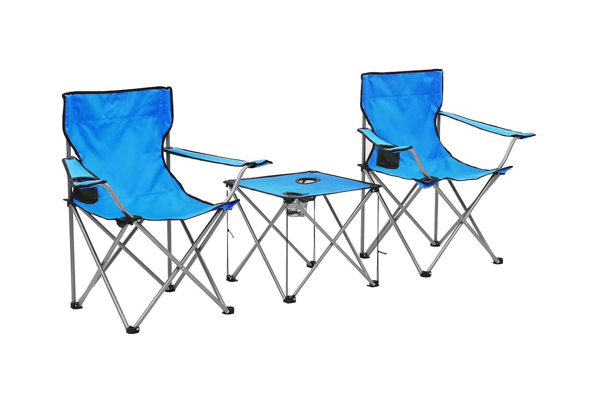 Brillour Campingbord med 2 Stolar