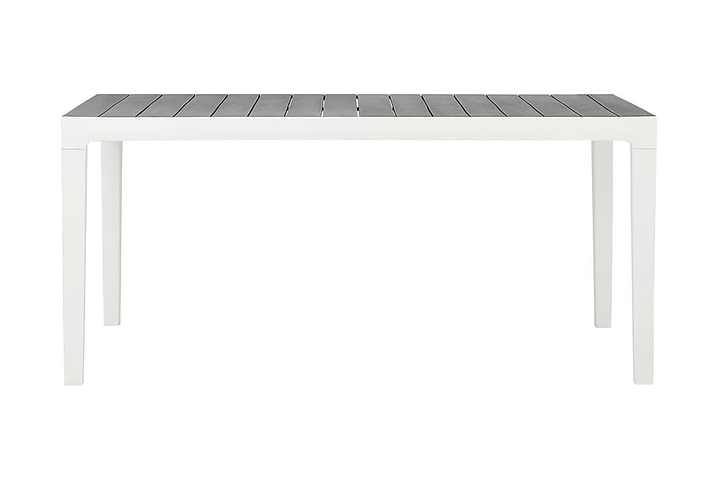 AGADIR Matbord 160 cm Grå/Vit - Utemöbler - Utebord - Matbord ute