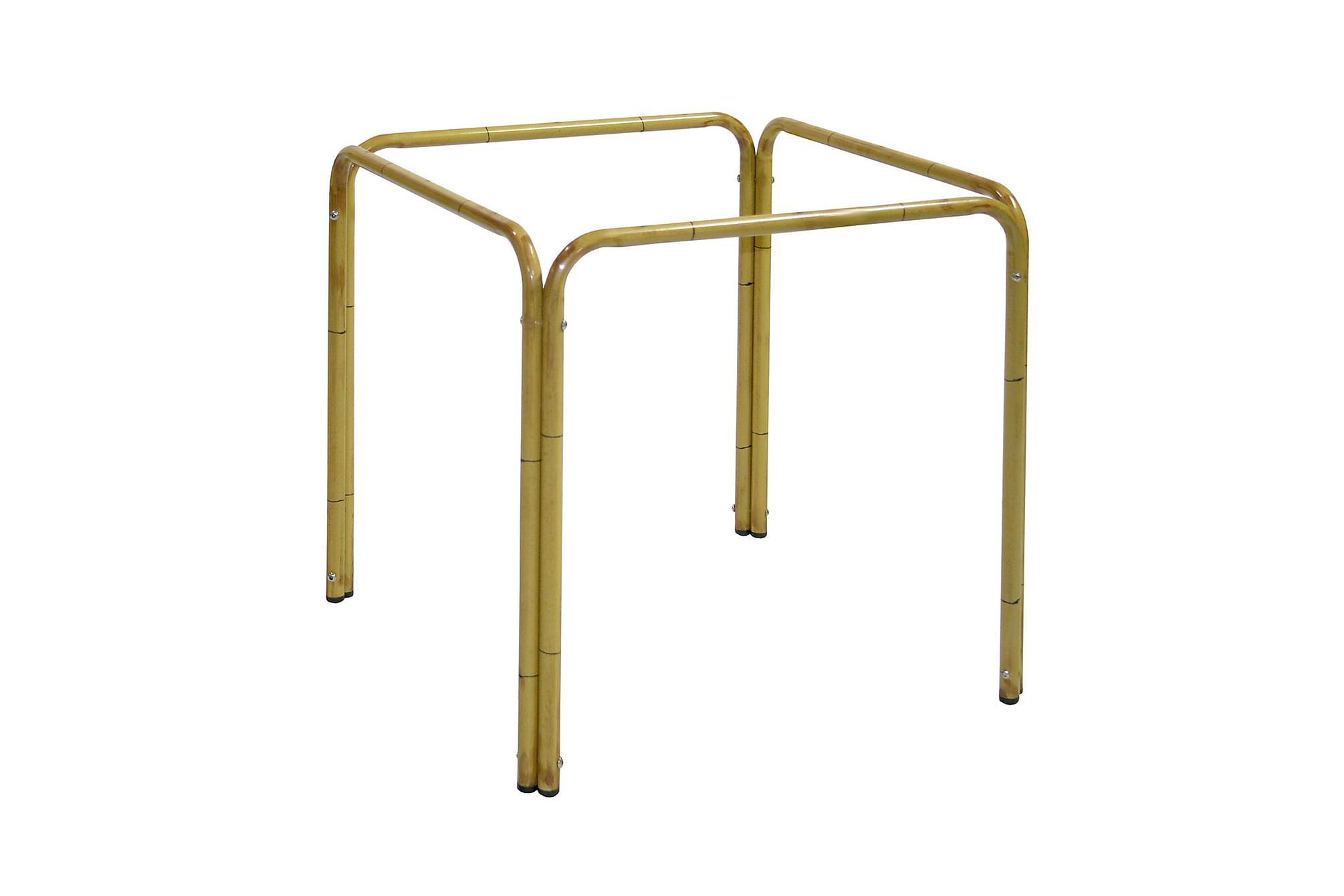 Bordsben 67x67xH70cm bambu ser aluminium, Matbord