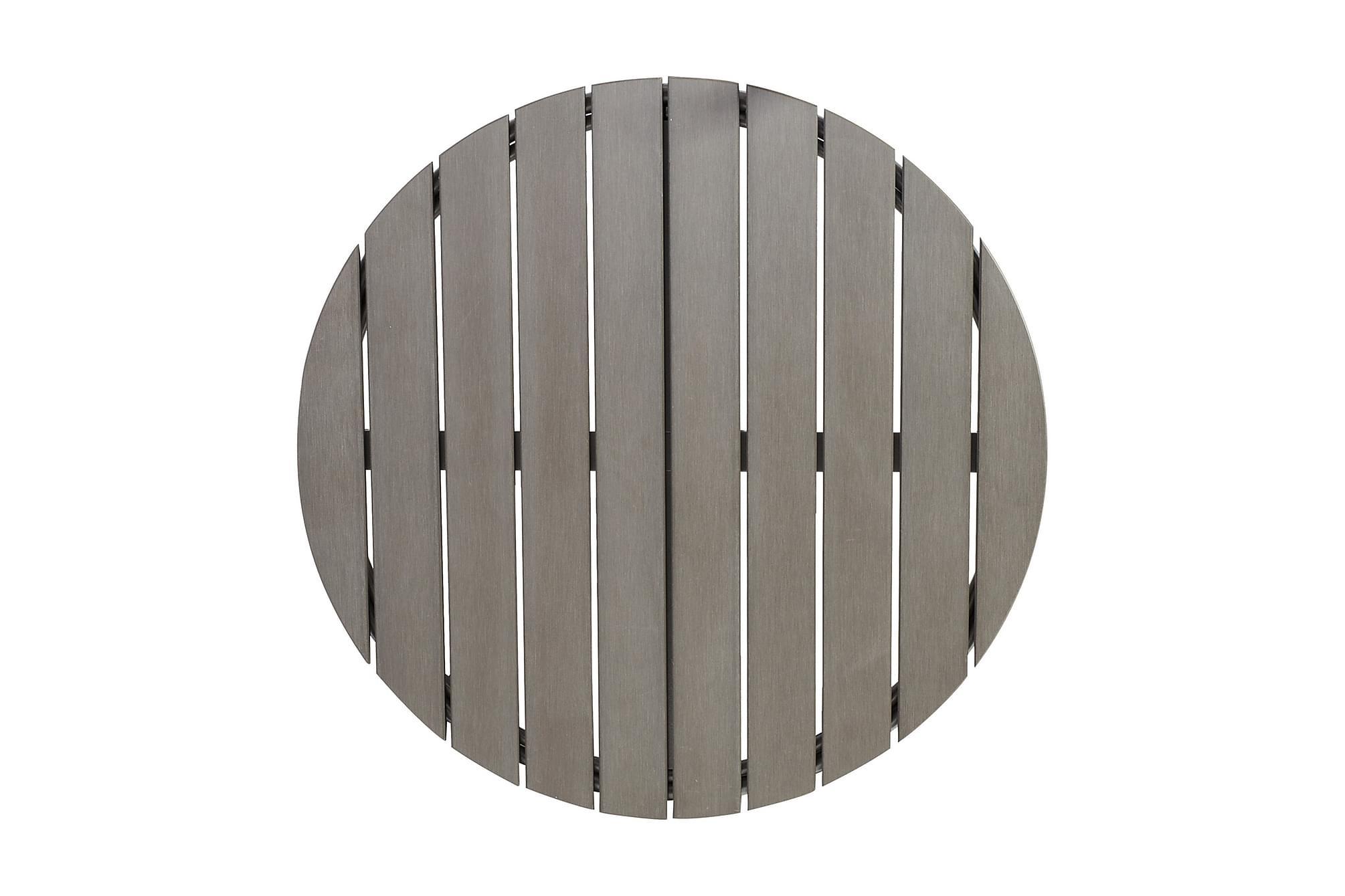 Bordsskiva LARACHE D70cm polywood grå, Matbord