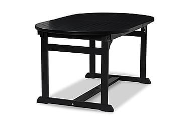 DALARÖ Förlängningsbart Matbord 150-200x72 Svart Akacia