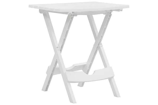 Hopfällbart trädgårdsbord 45,5x38,5x50 cm vit - Vit - Utemöbler - Utebord - Matbord