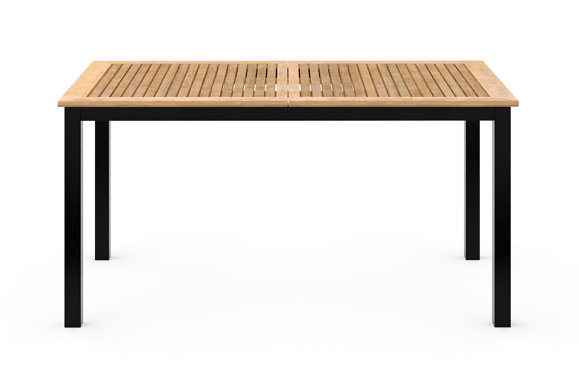 LAS VEGAS Förlängningsbart Matbord 152-210×90 Svart/Teak