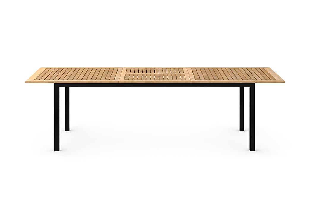 LAS VEGAS Förlängningsbart Matbord 220x280x100 Svart/Teak - Utemöbler - Utebord - Matbord ute