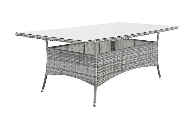 MOPANE Matbord 200x100 Glas/Grå - Utemöbler - Utebord - Matbord