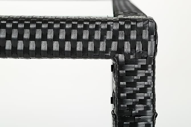 ONORIO Bord 150x91 Konstrotting Svart - Utemöbler - Utebord - Matbord