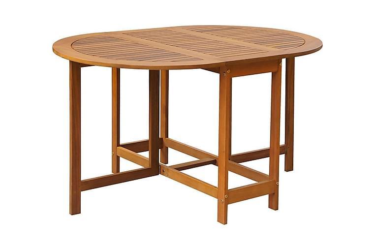 Trädgårdsbord 130x90x72 cm massivt akaciaträ - Brun - Utemöbler - Utebord - Matbord ute