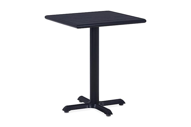 Trädgårdsbord svart 60x60x75 cm - Svart - Utemöbler - Utebord - Matbord ute
