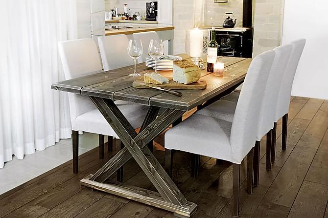 VIONA Matbord 200 Grå - Utemöbler - Utebord - Matbord