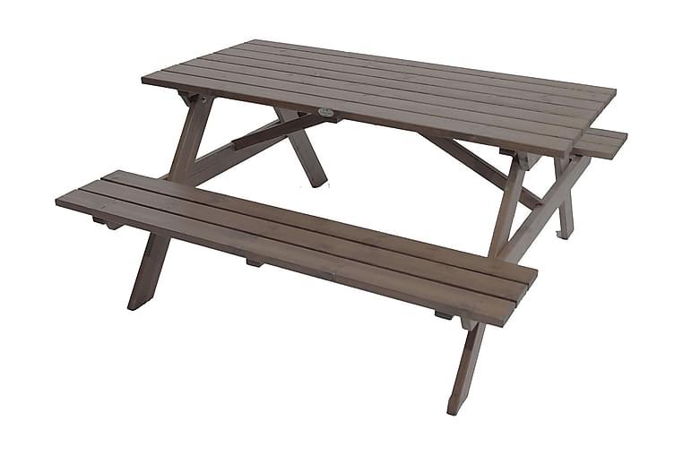 Picknickbord 150 cm Grålaserat - Utemöbler - Utebord - Picknickbord